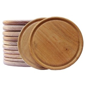 Teller aus Holz 2x